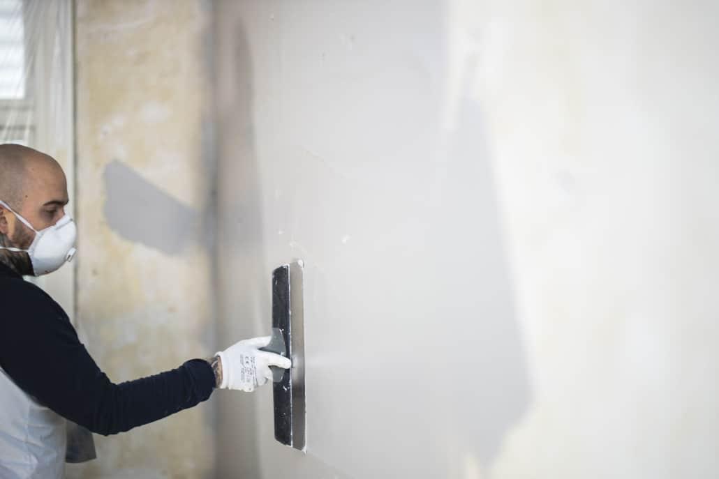 Spartling af væg